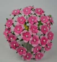 LIGHT PINK PINK CENTER 2-LAYERED sweetheart blossom Mulbery Paper Flowers
